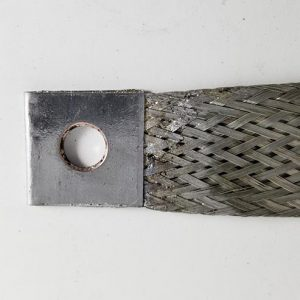 "Type IV, Rev. A, Tinned Copper Bond Strap - 6"" Image"