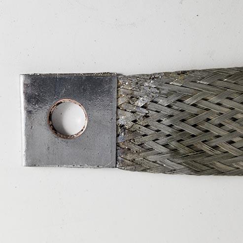 "Type IV, Rev. A, Tinned Copper Bond Strap - 12"" Image"